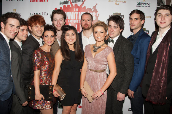The cast of The Commitments at the opening night party. Ten of the ensemble are making their West End debuts.