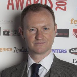 Mark Gatiss at the 2012 WhatsOnStage Awards