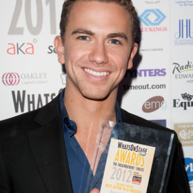Richard Fleeshman at the 2012 WhatsOnStage Awards