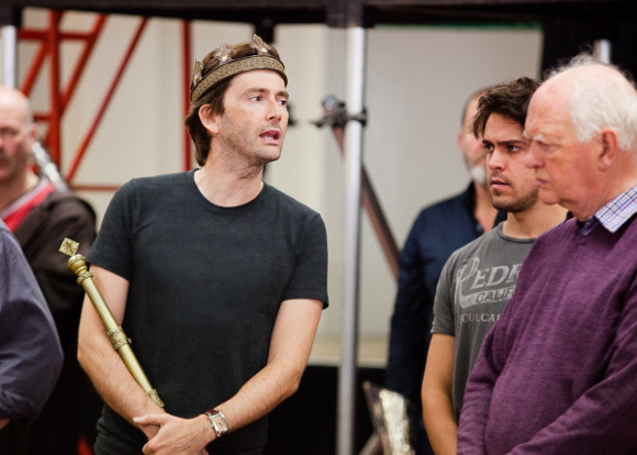 David Tennant and Oliver Ford Davies in rehearsal for Richard II