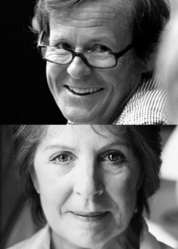 National treasures: David Hare and Penelope Wilton