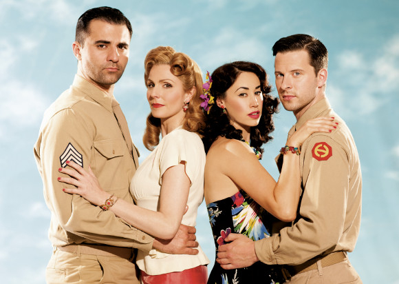 Promotional image for From Here to Eternity featuring Darius Campbell, Rebecca Thornhill, Siubhan Harrison and Robert Lonsdale