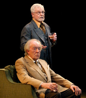 Michael Gambon and Derek Jacobi performing an extract from Pinter's No Man's Land