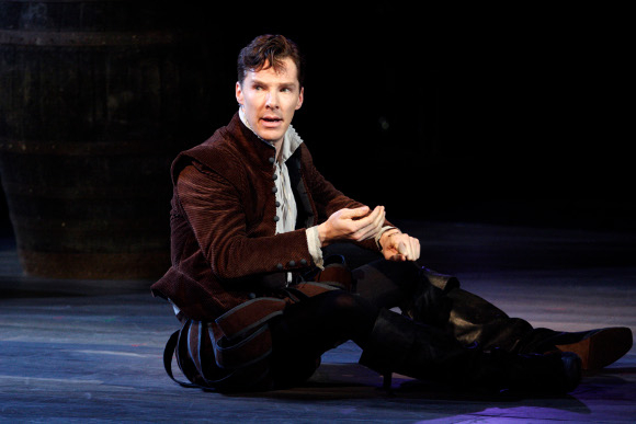 Benedict Cumberbatch as Rosencrantz in Rosencrantz and Guildenstern Are Dead by Tom Stoppard (the play was first performed at the National Theatre in 1967 with John Stride and Edward Petherbridge in the title roles)