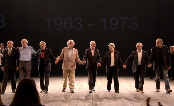 Take a bow: Some National Theatre legends during Saturday's curtain call