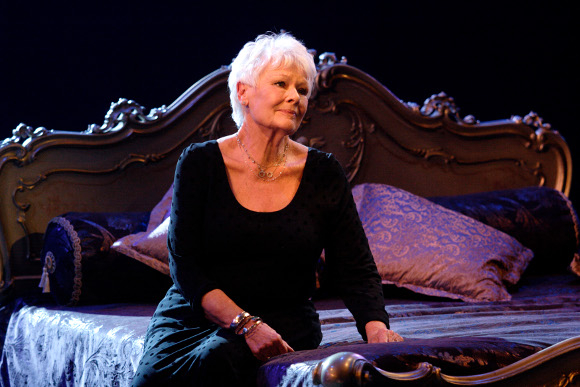 Judi Dench performs a scene from Antony and Cleopatra as part of the National Theatre's 50th anniversary gala