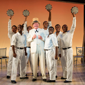 Julian Glover and the company of The Scottsboro Boys
