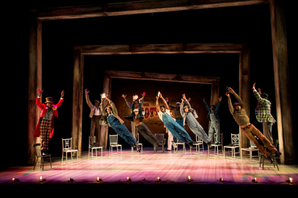 The company of The Scottsboro Boys
