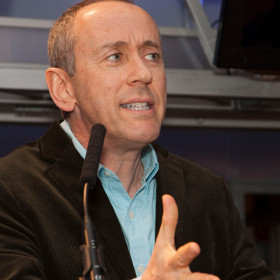 Passionate: Nicholas Hytner speaking at last night's LAMDA fundraiser