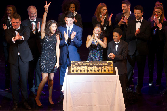 Debbie Kurup, Tristan Gemmill, Beverley Knight and the company of The Bodyguard