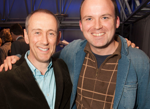 Nicholas Hytner and Rory Kinnear at the launch of LAMDA's Act Now! campaign