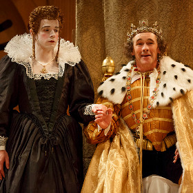 Joseph Timms and Mark Rylance in Richard III