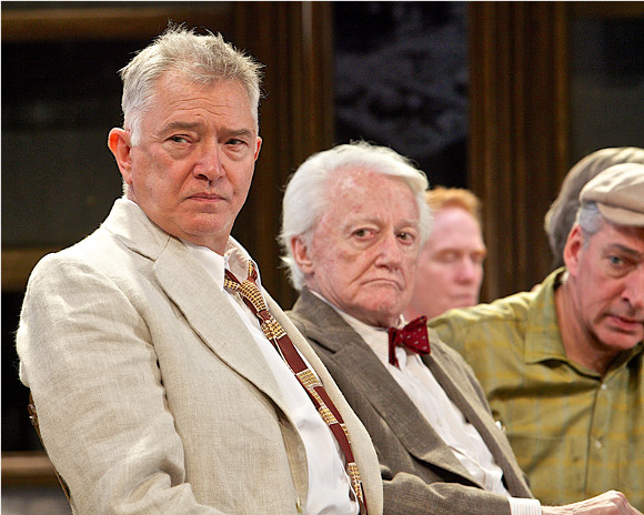 Martin Shaw and Robert Vaughn in Twelve Angry Men