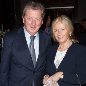 Roy Hodgson with his wife Sheila