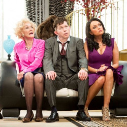 Sheila Hancock, Lee Evans and Keeley Hawes in Barking in Essex