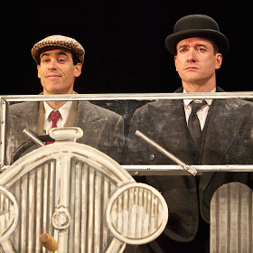 Stephen Mangan as Bertie Wooster and Matthew Macfadyen as Jeeves