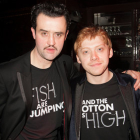 Daniel Mays and Rupert Grint at last night's post-show party