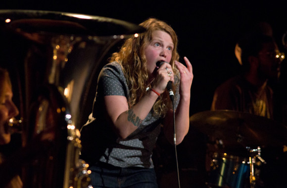 Kate Tempest performing Brand New Ancients
