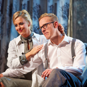 Miranda Raison with Laurence Fox