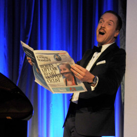 Damian Lewis hosting the Evening Standard Awards