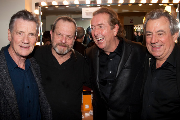 Michael Palin, Terry Gilliam, Eric Idle and Terry Jones at the Albert Hall in 2009