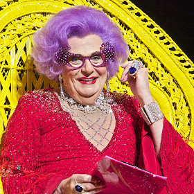 Barry Humphries as Dame Edna Everage