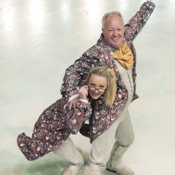 Keith Chegwin as Drosselmeyer and Olga Sharutenko as Drosselmeyers Assistant