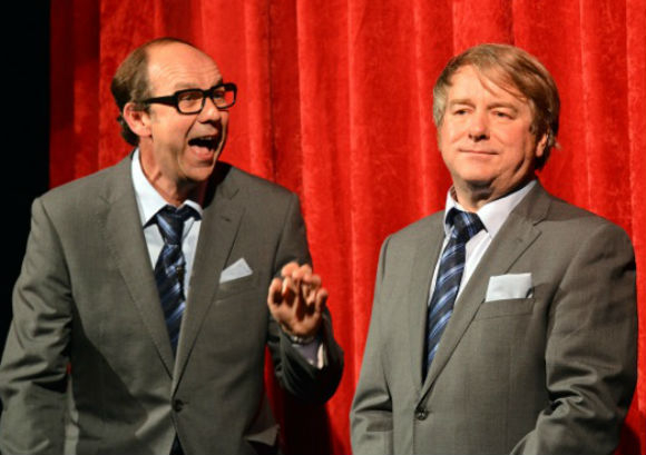 Bringing sunshine: Jonty Stephens and Ian Ashpitel as Eric and Ern