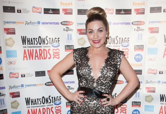 Louise Dearman at the 2013 WhatsOnStage Awards