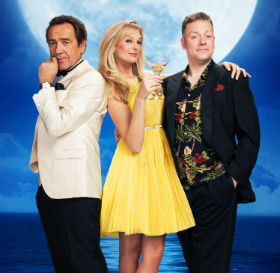 Robert Linsday, Katherine Kingsley and Rufus Hound star in Dirty Rotten Scoundrels