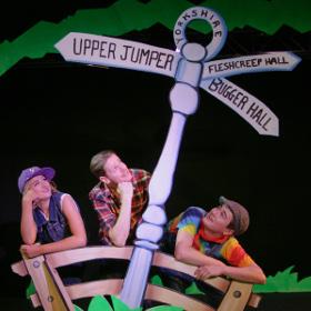 Rosie Bennett as Maisie,  Chris Clynes as Jack Trott and Toby Joyce as Simon Trott