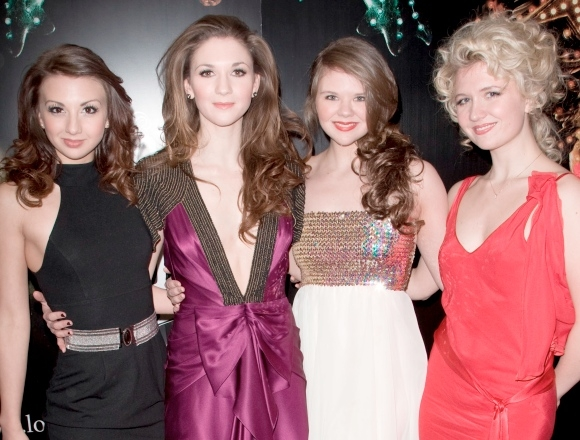 Scarlett Strallen with her sisters Zizi, Summer and Sasi