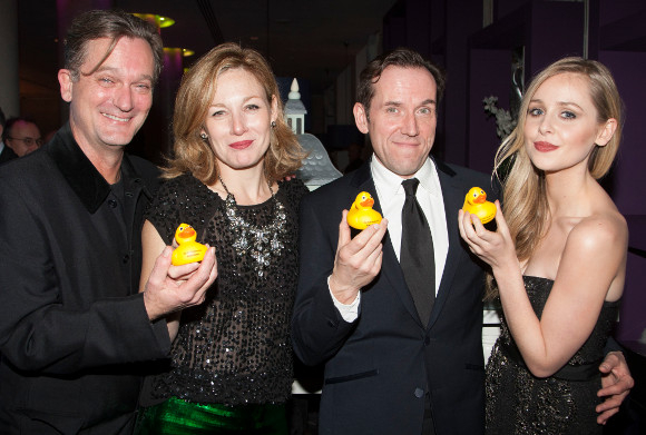 Cast members Simon Shepherd, Nancy Carroll, Ben Miller and Diana Vickers attend the after party