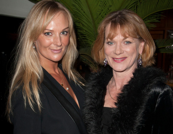 Soon to be co-stars Katherine Kingsley and Samantha Bond