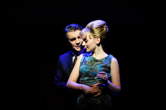 Alexander Hanson as Stephen Ward and Charlotte Blackledge as Mandy Rice-Davies