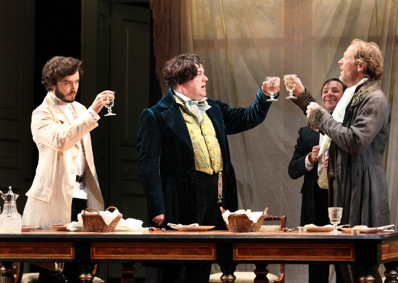 Alexander Vlahos, Richard McCabe and Iain Glen in Fortune's Fool