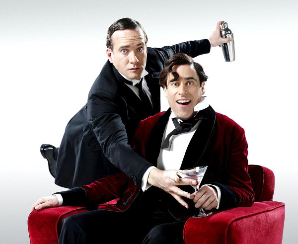 Matthew Macfadyen (Jeeves) and Stephen Mangan (Wooster) in Perfect Nonsense at the Duke of York's Theatre.