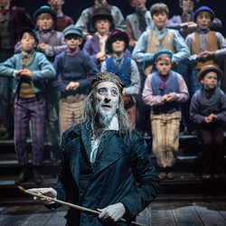 Tom Edden as Fagin in Sheffield Theatres' Production of Oliver!