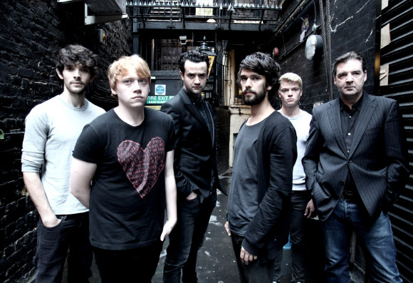 Colin Morgan, Rupert Grint, Daniel Mays, Ben Whishaw, Tom Rhys Harries and Brendan Coyle
