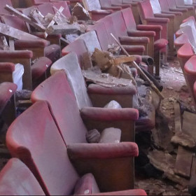 The aftermath of the Apollo Theatre collapse