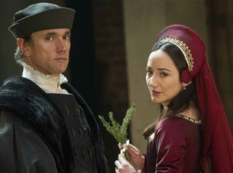 Ben Miles and Lydia Leonard in Wolf Hall