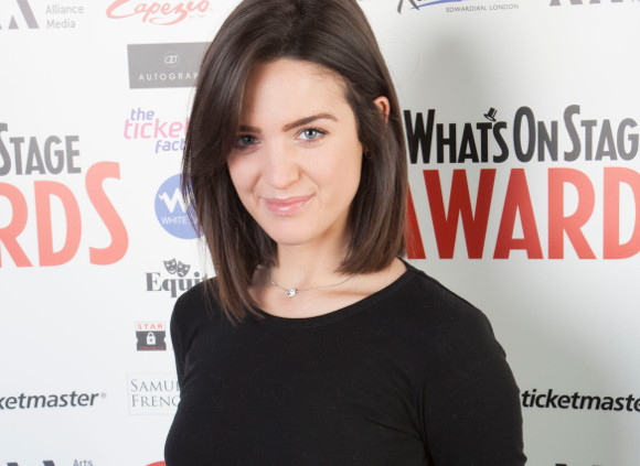 Lauren Samuels at the launch of the 2014 WhatsOnStage Awards