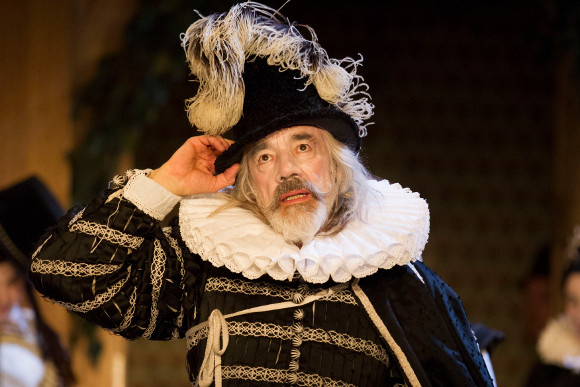 Roger Lloyd-Pack as Sir Andrew Aguecheek in Twelfth Night
