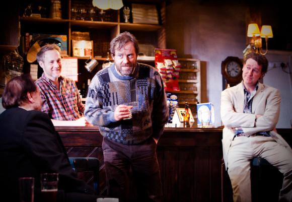 On the move: Brian Cox, Peter McDonald, Ardal O'Hanlon & Risteard Cooper in The Weir