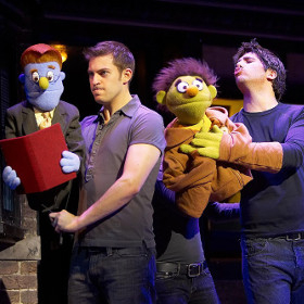 Jon Robyns and Simon Lipkin in Avenue Q