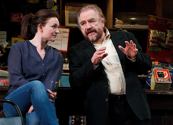 Telling tales: Dervla Kirwan (Valerie) and Brian Cox (Jack) in The Weir at Wyndham's
