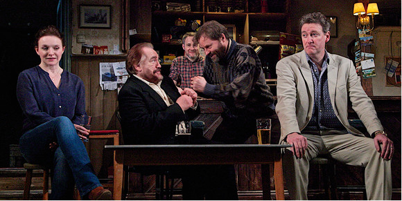 Good craic: The cast of The Weir at Wydham's Theatre