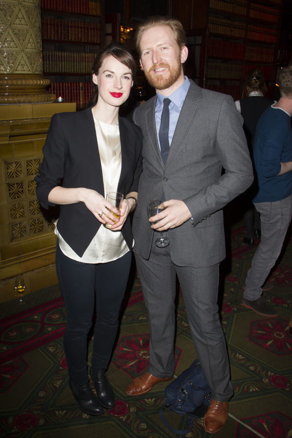 Jessica Raine and Tom Goodman-Hill attend the after party for the West End transfer of The Weir