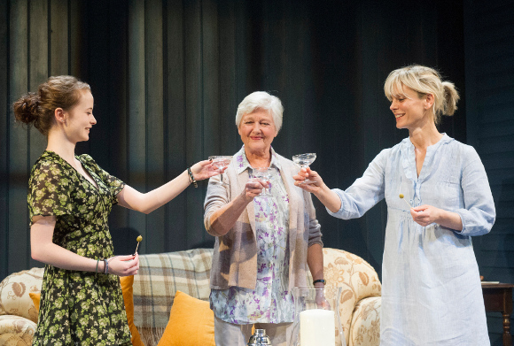 Shannon Tarbet, Polly Adams and Emilia Fox