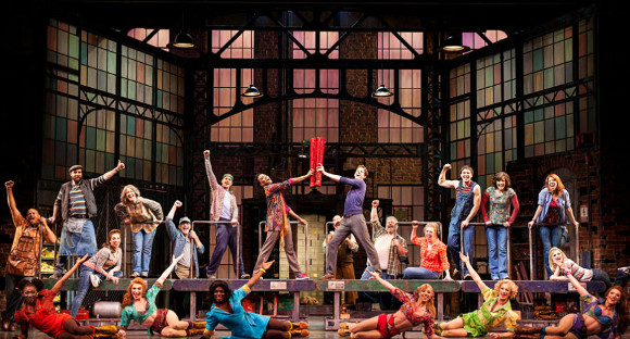 The cast of Kinky Boots on Broadway